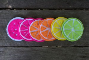 Citrus Coasters Set 1