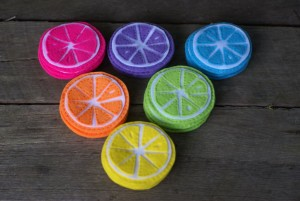 Citrus Coasters by colour